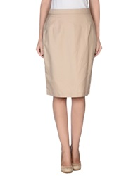 Gattinoni Knee Length Skirts Beige