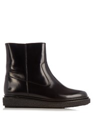 Isabel Marant Connor Leather Ankle Boots Black