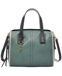 Fossil Emma Leather Satchel Arctic Mist