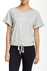Pink Lotus Under The Rocks Easy Pullover Gray