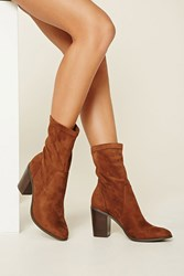 Forever 21 Faux Suede Ankle Booties