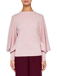 Ted Baker Fluri Oversized Sleeve Cashmere Jumper Light Pink