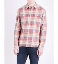 Levi's Jackson Worker Cotton Flannel Shirt Piva Pewter