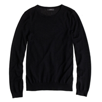 J.Crew Collection Featherweight Cashmere Long Sleeve Tee Black