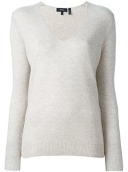 Theory V Neck Sweater Nude And Neutrals