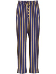 Esteban Cortazar Drawstring Waist Striped Trousers 60