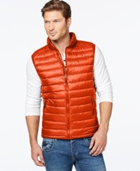 Weatherproof 32 Degrees Packable Down Vest Red Maple Solid