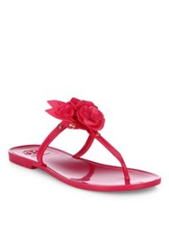 Tory Burch Blossom Jelly Thong Sandals Hibiscus