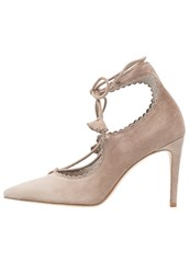 Kennel Schmenger Miley Laceup Heels Opal Taupe