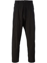 Ziggy Chen Drop Crotch Trousers Brown