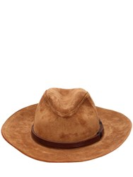 Htc Los Angeles Suede Brimmed Hat Camel
