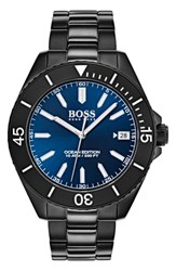 Boss Ocean Bracelet Watch 42Mm Navy Black