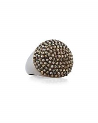 Bavna Champagne Diamond Cocktail Ring Gray