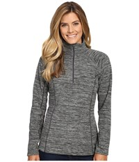 Mountain Hardwear Snowpass Fleece Zip Tee Heather Black Women's Long Sleeve Pullover