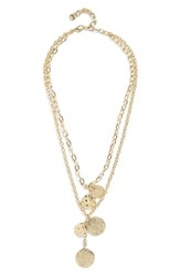 Baublebar Talia Layered Pendant Necklace Gold