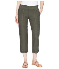 Allen Allen Cropped Cuff Bottom Pants Cilantro Casual Pants Green