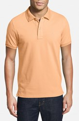Men's Big And Tall Tailorbyrd Stretch Pique Cotton Polo Peach
