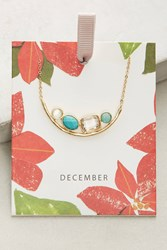 Anthropologie Birthstone Necklace Blue