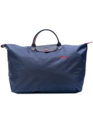 Longchamp Le Pilage Club Travel Bag L Blue