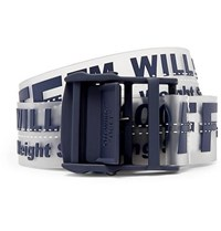 Off White 3.5Cm Navy Industrial Pvc Belt Navy