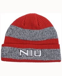 Adidas Northern Illinois Huskies Player Watch Knit Hat Red Heather Gray