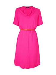 Paul Smith Black Cowl Neck Dress Pink