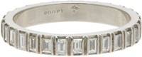 Zoe Women's Baguette White Diamond Eternity Band No Color