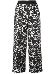 I'm Isola Marras Floral Print Cropped Trousers Black