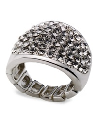Style And Co. Ring Silver Tone Stretch Bling Ring