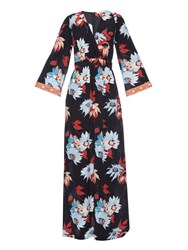 Etro Floral Print Silk Crepe Maxi Dress