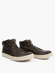 Officine Creative Black Leather Paragon Hi Top Sneakers
