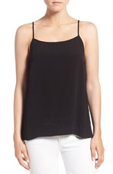 1.State Women's Split Back High Low Tank Rich Black