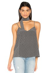 Ag Adriano Goldschmied Lisette Tank With Scarf Gray
