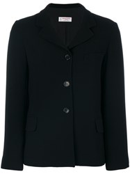 Alberto Biani Tailored Straight Blazer Women Polyester Cupro Triacetate 44 Black