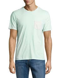 Black Brown Contrast Pocket Tee Light Mint