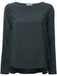 Scanlan Theodore Trapeze Blouse Green