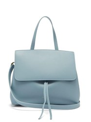 Mansur Gavriel Mini Lady Leather Cross Body Bag Light Grey