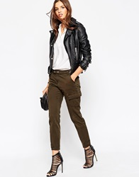 Asos Utility Skinny Trouser With Belt And Pockets