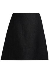 Delpozo Canvas Mini Skirt Black
