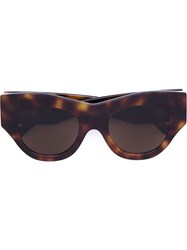 Vera Wang Thick Cat Eye Sunglasses Brown