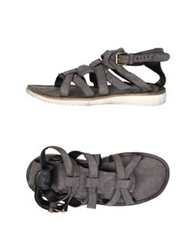 Bb Washed By Bruno Bordese Sandals Grey