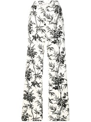 Essentiel Antwerp Printed Wide Leg Trousers White
