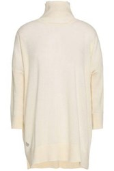 Amanda Wakeley Cashmere And Wool Blend Turtleneck Sweater Ivory