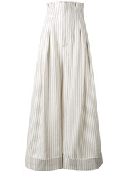 Jacquemus Striped Palazzo Pants White