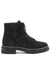Alexander Wang Cooper Studded Canvas Ankle Boots Black