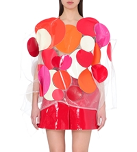 Junya Watanabe Faux Leather Circle Top Red