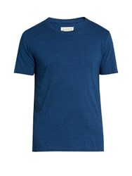 Maison Martin Margiela Set Of Three Crew Neck T Shirts Blue