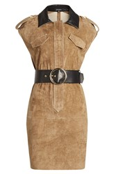 Jitrois Belted Suede Dress