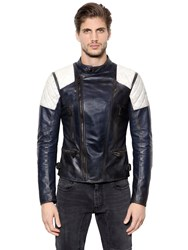 Belstaff Greensted Two Tone Leather Moto Jacket
