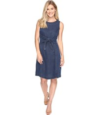 Nic Zoe Denim Days Tie Dress Rich Indigo Women's Dress Navy